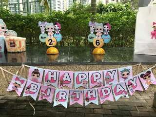 LOL Surprise Doll birthday banner