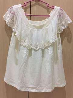 BNWT Zara White Blouse s13-14