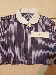 🚚 Lativ Kid 條紋襯衫(含運)