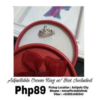 Adjustable Crown Ring w/ FREE BOX