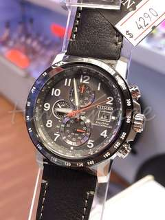 CITIZEN Eco-Drive RADIO CONTROLLED AT8124-08H (光動能電波時計)