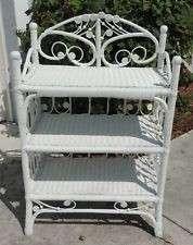 White Wicker Shelf