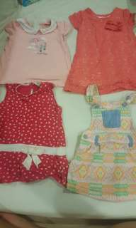 4 sets preloved girl outfit