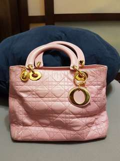 🚚 正品Dior 粉色羊皮戴妃包 chanel gucci lv hermes