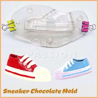 👟 SNEAKER SHOES CHOCOLATE MOLD Pastry Decorating Tool for Pastry • Chocolate • Fondant • Gum Paste • Candy • Jelly • Gummies • Ice • Resin • Polymer Clay Craft Art • Candle Wax • Soap Mold • Crayon •