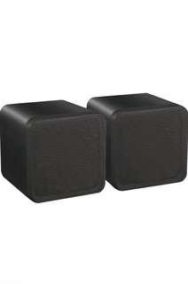 (183) E-Audio High Quality 4-Inch Dual Cone Full Range Mini Box Speaker