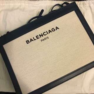 巴黎世家 Navy Pochette cotton-canvas cross-body bag Balenciaga