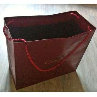 (半價) CARTIER Paper Shopping Gift Bag 紙袋 禮物袋 (Half Price)