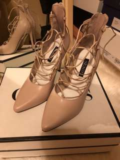 Senso nude lace up heels size 37