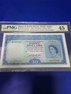 $50-MBB 1953 PMG45 GEF.ORIGINAL.