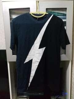 NEIL BARRETT Men's T-Shirt 拼佈 Tee