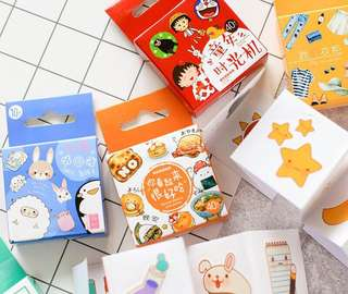 40 pcs  Cute  Food Cat & Animal Sticker Pack(AAC)