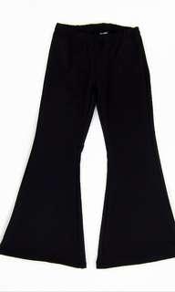 Black Bell Bottom Pants
