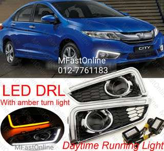 HONDA CITY 2014-2016 Daylight Daytime DRL + Signal + Fog Lamp Cover