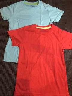 2pc boys' plain shirts
