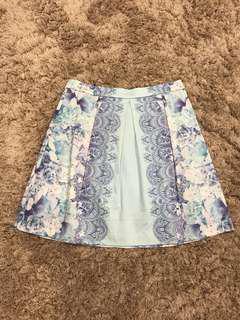 Blue floral forever new skirt