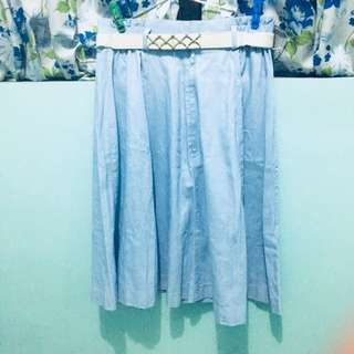 Denim Skirt w free belt