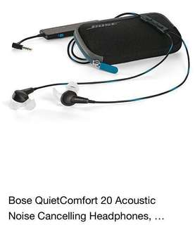 Bose QC20 noise cancellation 🎧