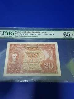 20- cents malaya pmg65epq