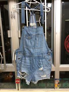 Abercrombie and Fitch A&F denim jumpsuit 牛仔工人褲