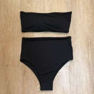 Bandeau highwaist bikini
