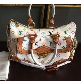 BBG 01 Authentic LOUIS VUITTON White Multicolour Rita Shoulder Bag