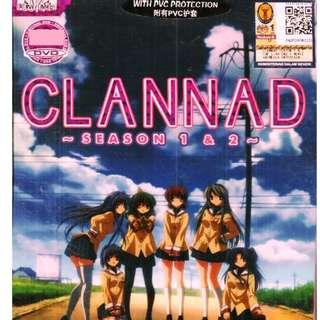 Clannad Season 1 + 2 Chapter 1-47 End + Movie Anime DVD