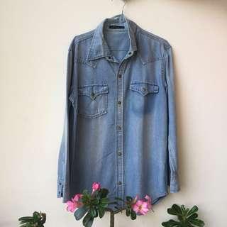 Jeans shirt kemeja jeans levis denim
