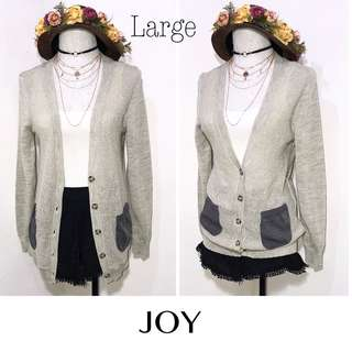 Branded Button Down Cardigan K61