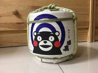 裝飾品/KUMAMON 清酒空瓶容器/古舊感小物/熊本熊