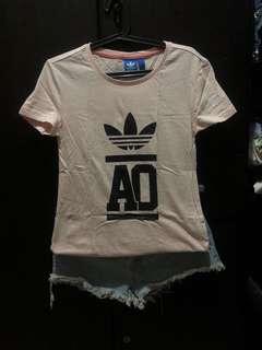 Adidas blush pink shirt