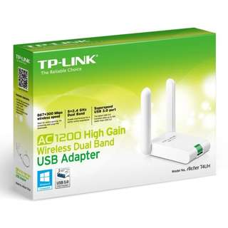 TP-Link AC1200 Wireless High Gain Dual Band USB Adapter Archer T4UH - USB 3.0