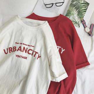 CL-18-001 男士短袖日系簡約深色字母寬鬆T恤 Always Simple 簡