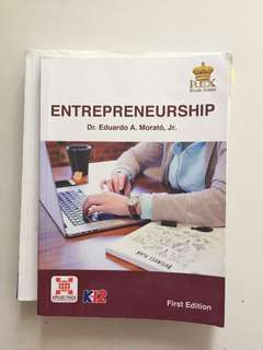 Entrepreneurship by Dr Eduardo A Morato senior high grade 11/12 textbook