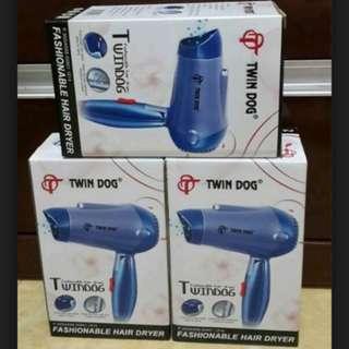Alat Perawatan Kecantikan Stylish Fashion Hair Dryer Pengering Rambut Twin Dog Biru 350W (TDL99)