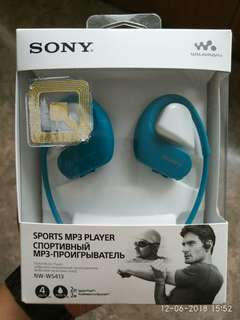 SONY Sports Walkman (NW-WS413 • Turquoise)