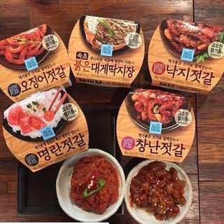 韓國GS25 蟹膏 辣八爪魚 明太子 魷魚