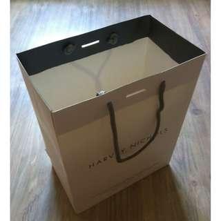 (半價) HARVEY NICHOLS Paper Shopping Gift Bag 紙袋 禮物袋 (Half Price)