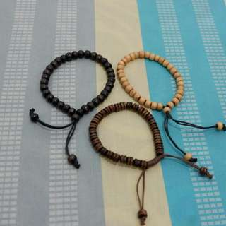 [New] Beaded bracelets (gelang manik kayu)