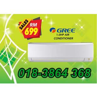 Last Call~New Aircond Gree/HAIER 1.0hp RM699 only!!!