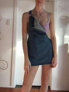 Blue Denim overall dress/skirt
