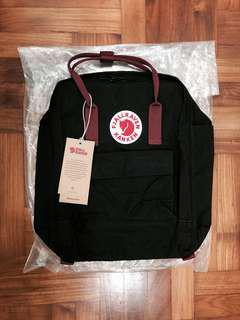 BN Authentic Kanken Black & Ox Red Classic Bag