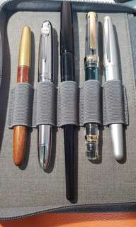 various fountain pens not experiensive ones [on overseas trip, all suspend ]