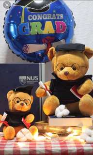 [BEARSAVENUE] Graduation bears and balloons- Ready stock