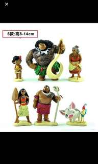 🚚 Instock moana cake Toppers Brand New 6pcs set