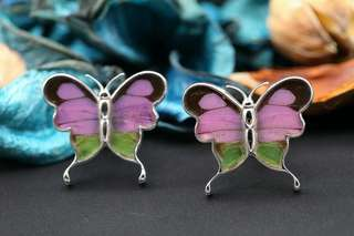 Navia Jewelry Real Butterfly Wing Graphium weiskei Alloy Cufflinks Korea