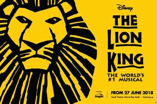 Disney The Lion King Singapore Musical -Show and Dine Package for 2 !!