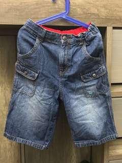 二手 Giordano Junior denim 短牛仔褲 size 130 8-10 years