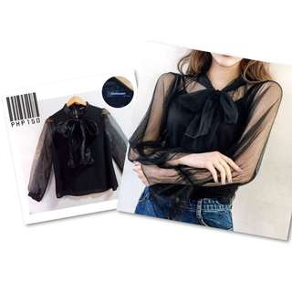 Korean Mesh sleeves top