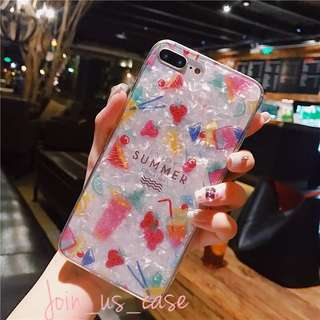 靚靚夏天主題iPhone case  (6/6+/6s/6s+/7/7+/8/8+/X)
